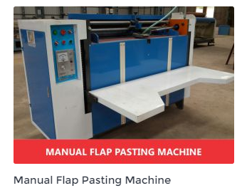 Manual Flap Pasting Machine